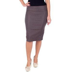 Professional Women Pencil Skirt, D1114, Brown